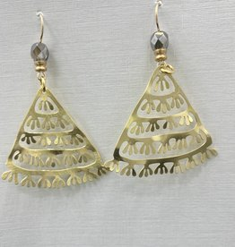 JMR Earrings  - Smoke/Gold