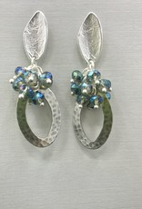 JMR Earrings  - Silver/Blue