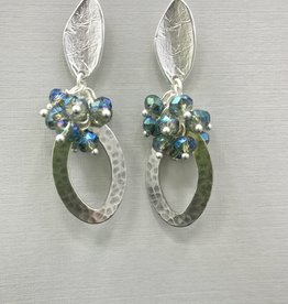 JMR Earrings - Silver/Blue