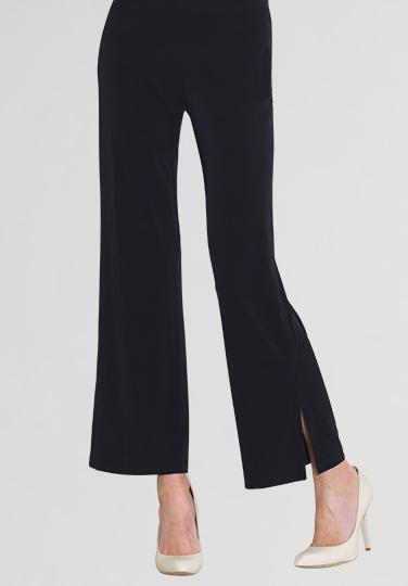 Clara Sun Woo Clara Sunwoo Solid Side Slit Ankle Pant - Black