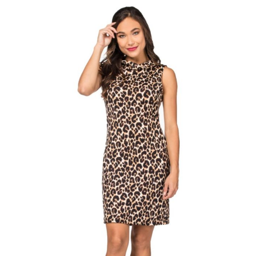 Last Tango Last Tango Leopard Burnout Dress