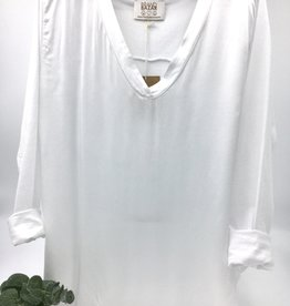 Brand Bazar Satina Top - White