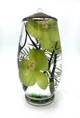 Lifetime Candle Brandy Vase - Green Orchid