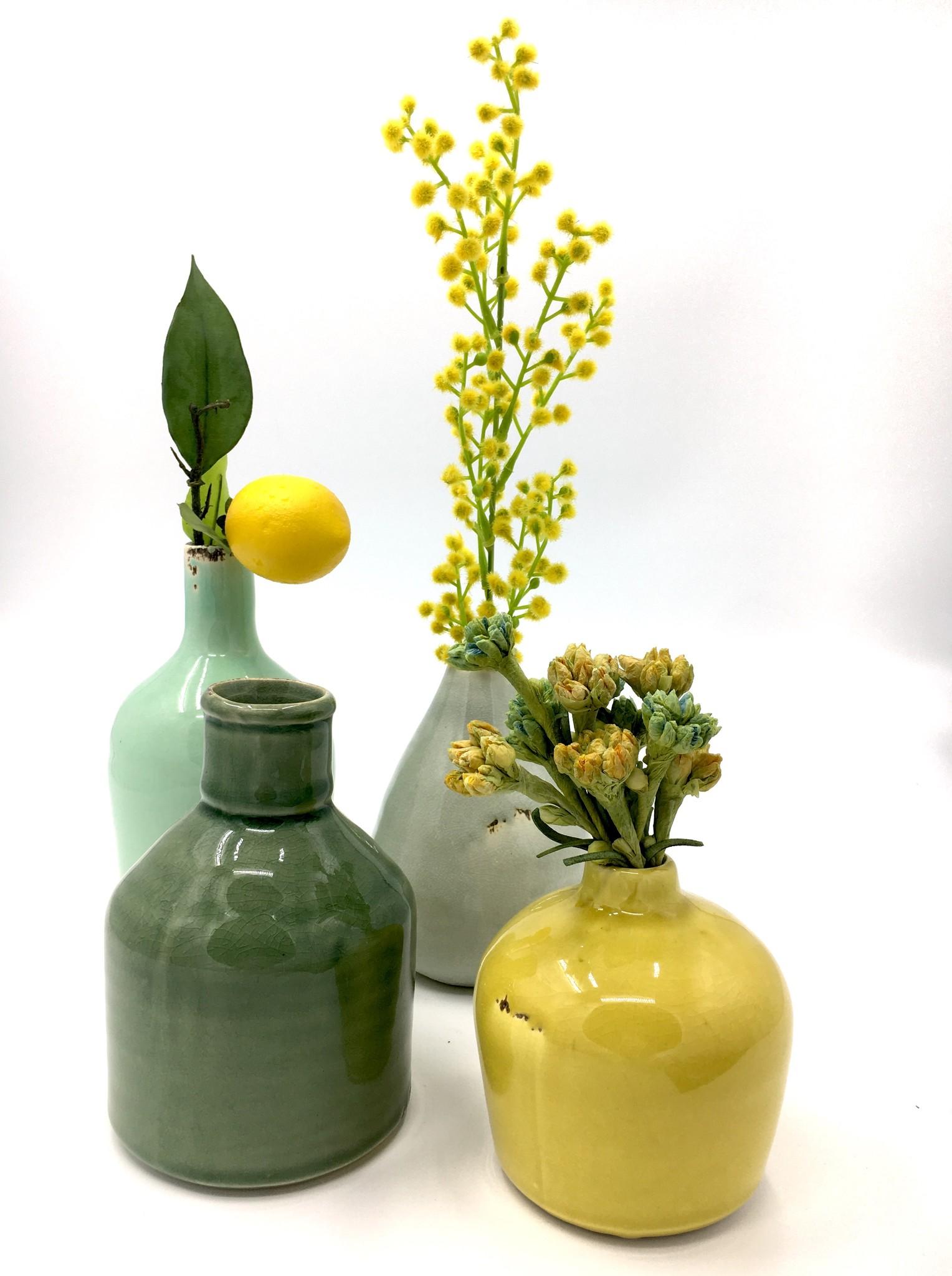 Creative Co-Op Set 4 Multi-Color Terra Cotta Vases