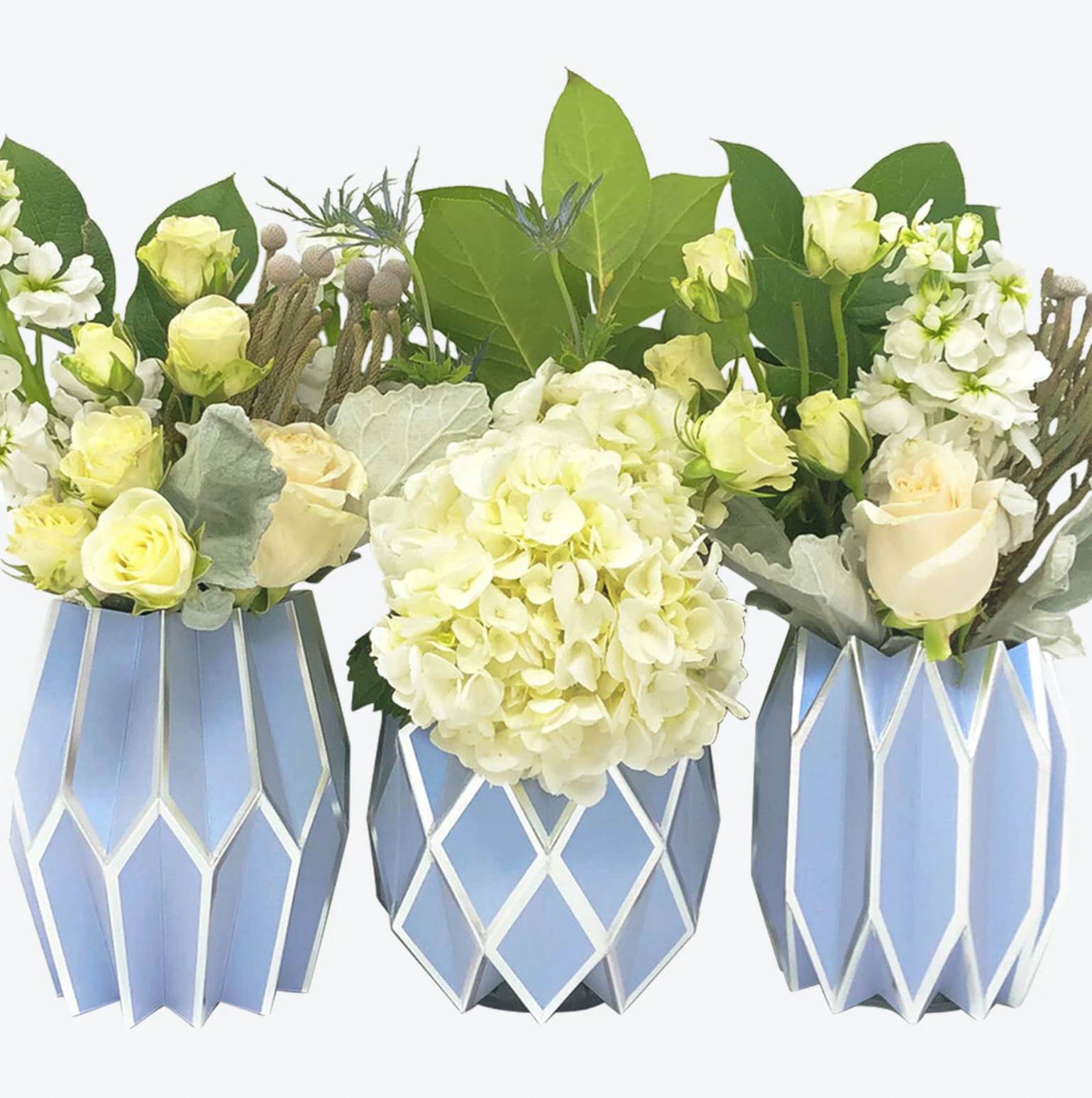Lucy Grymes Vase Wraps - Periwinkle