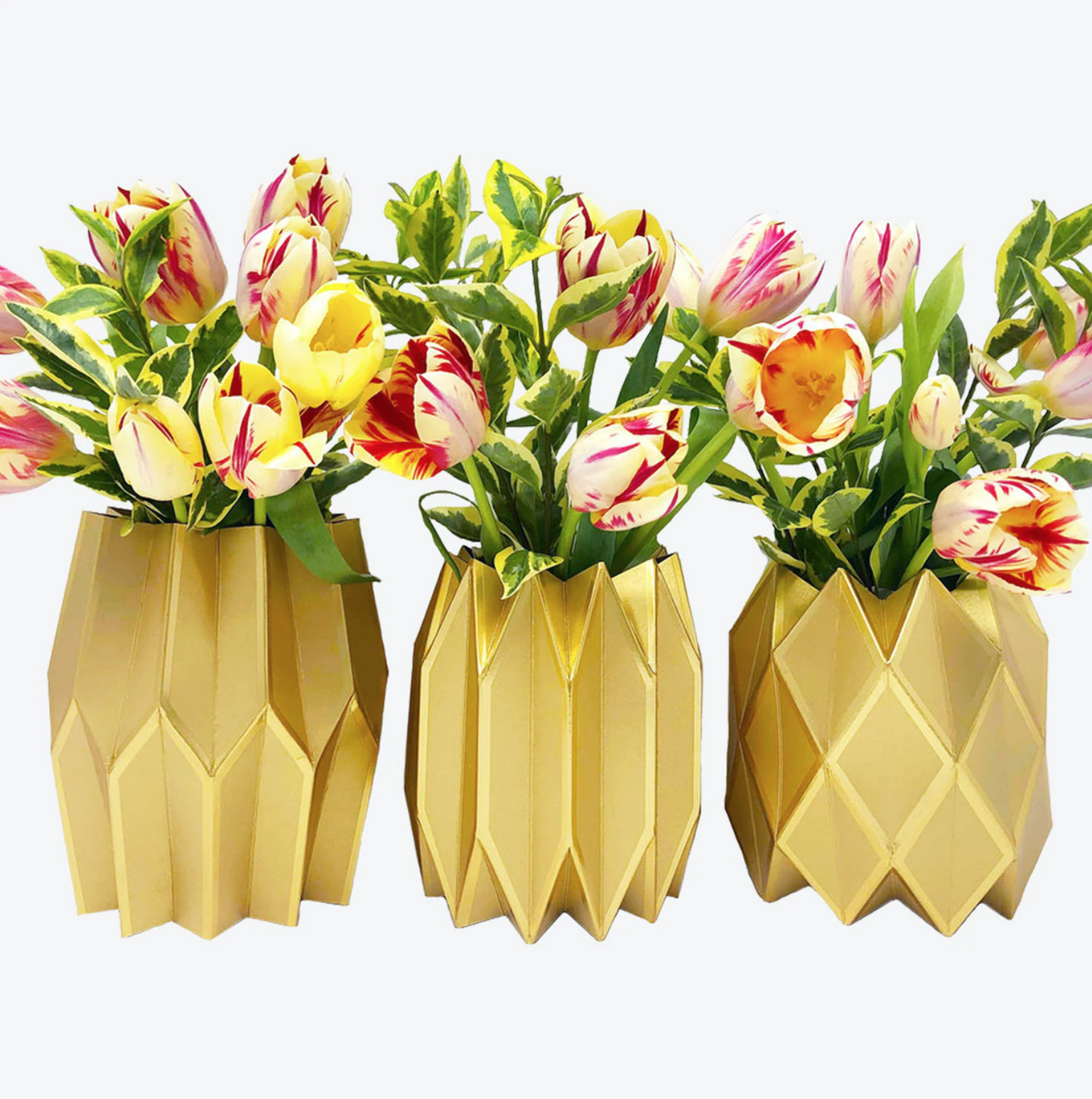Lucy Grymes Vase Wraps - Gold