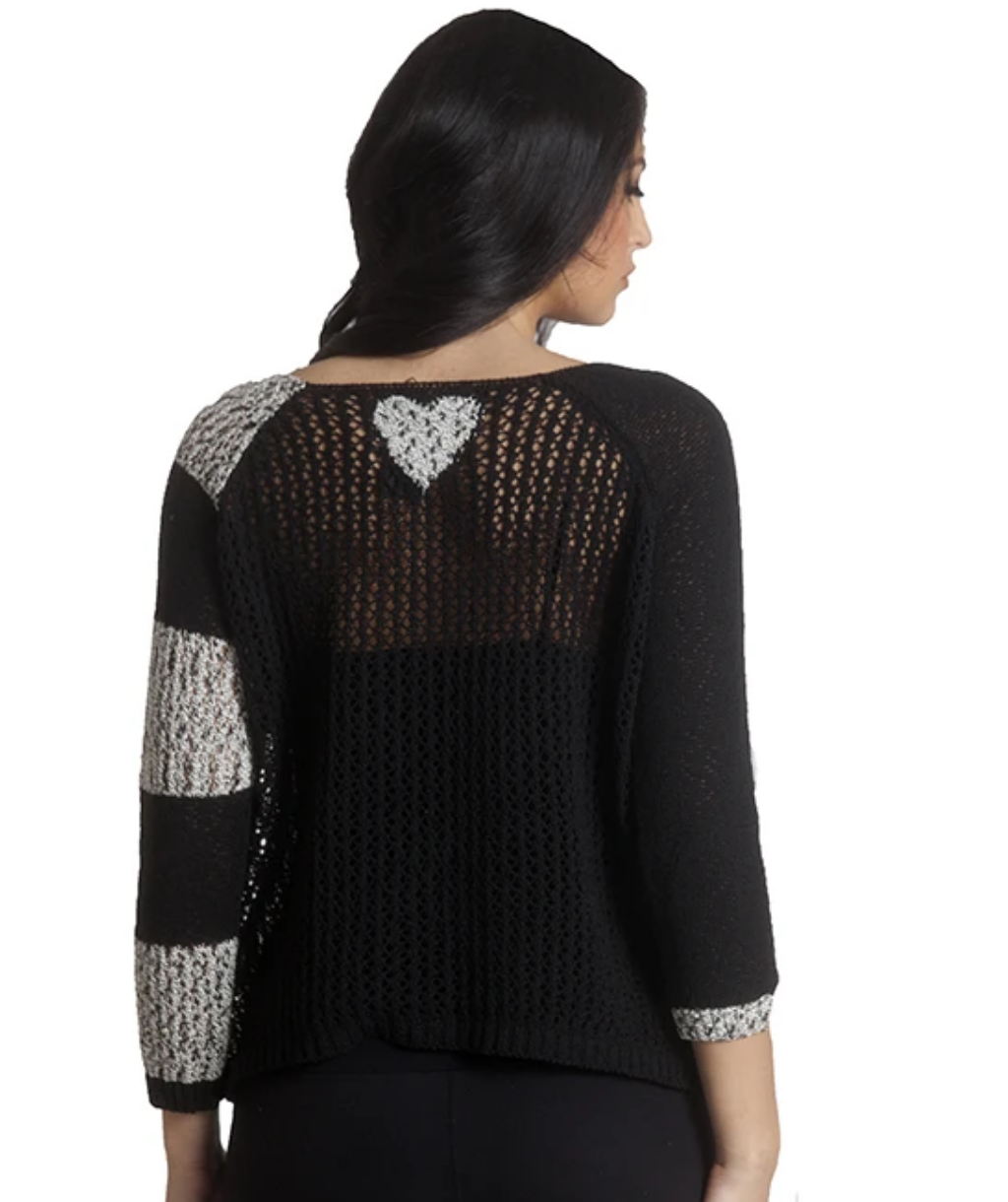 French Kyss Crochet Top - Heart on Back