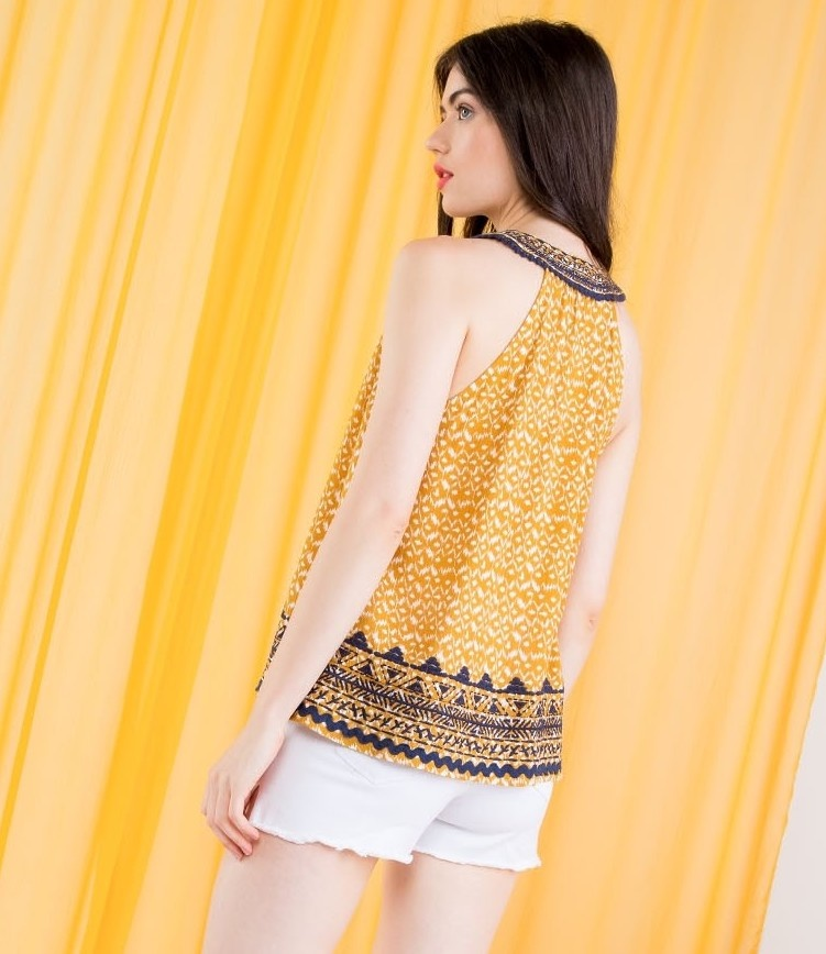 THML Golden Sunshine Sleeveless Top