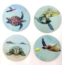 Tropical Turtles - Set 4 Coasters