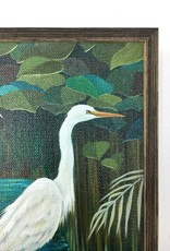 Wandering Egrets - 6x6 Mini Framed Art