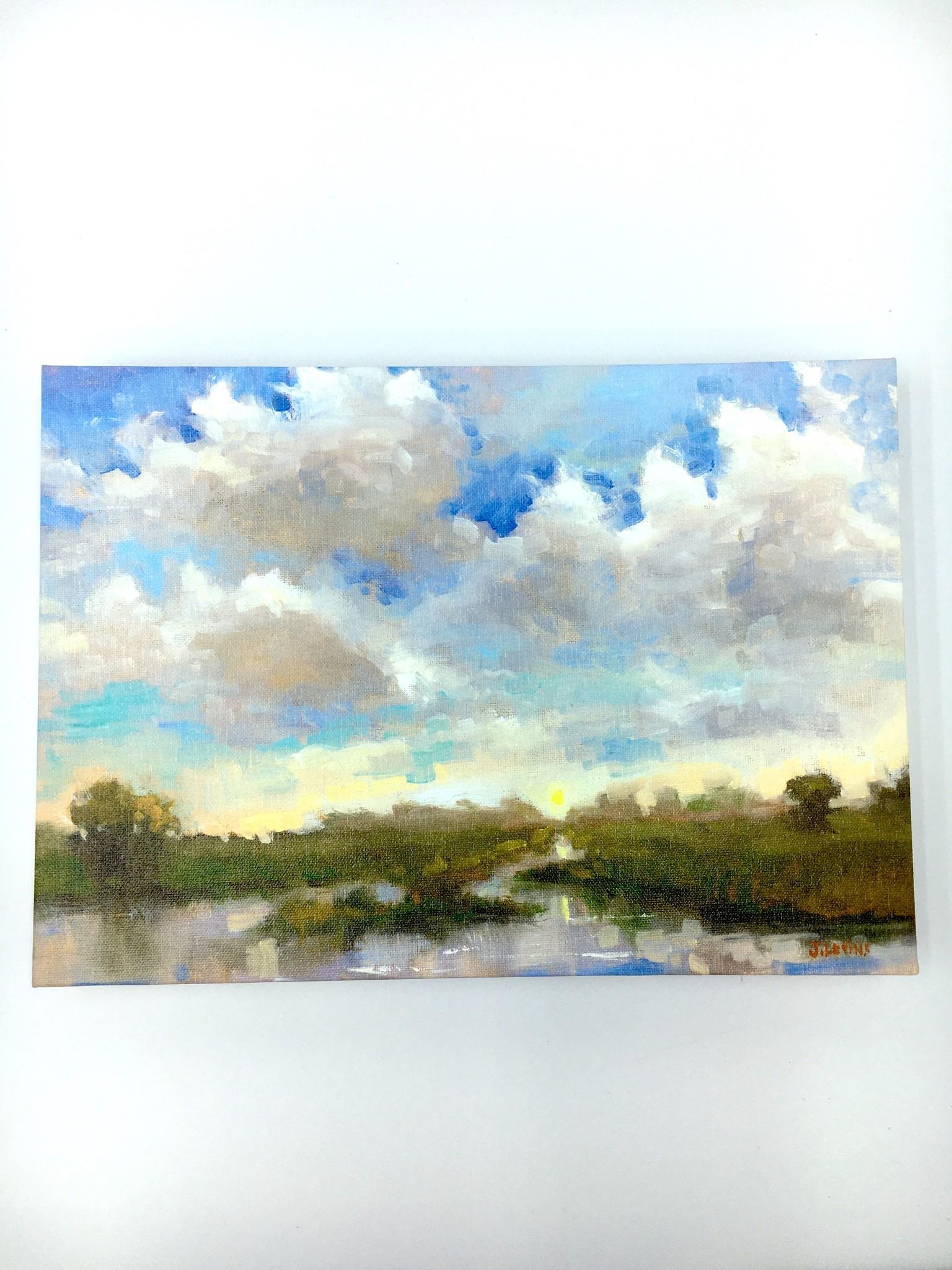 Sunny Reflections - 14x10 Canvas Art