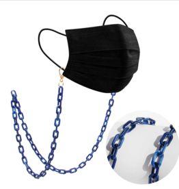 Milk + Sass Mask Chain (Small) - Blue