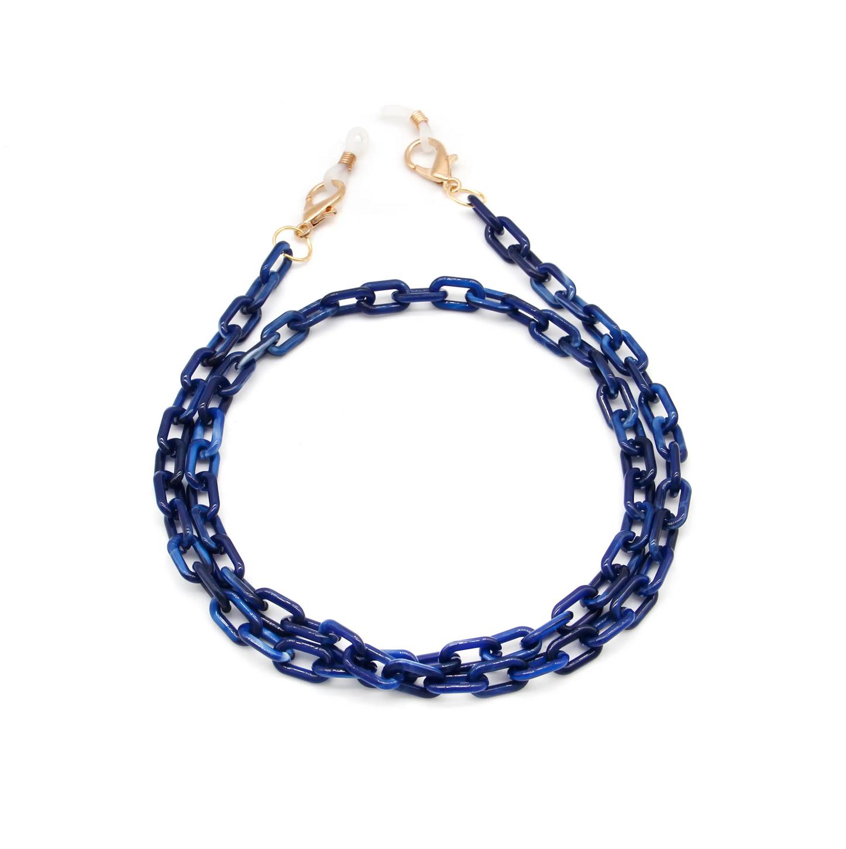 Milk + Sass Mask Chain (Small) - Blue