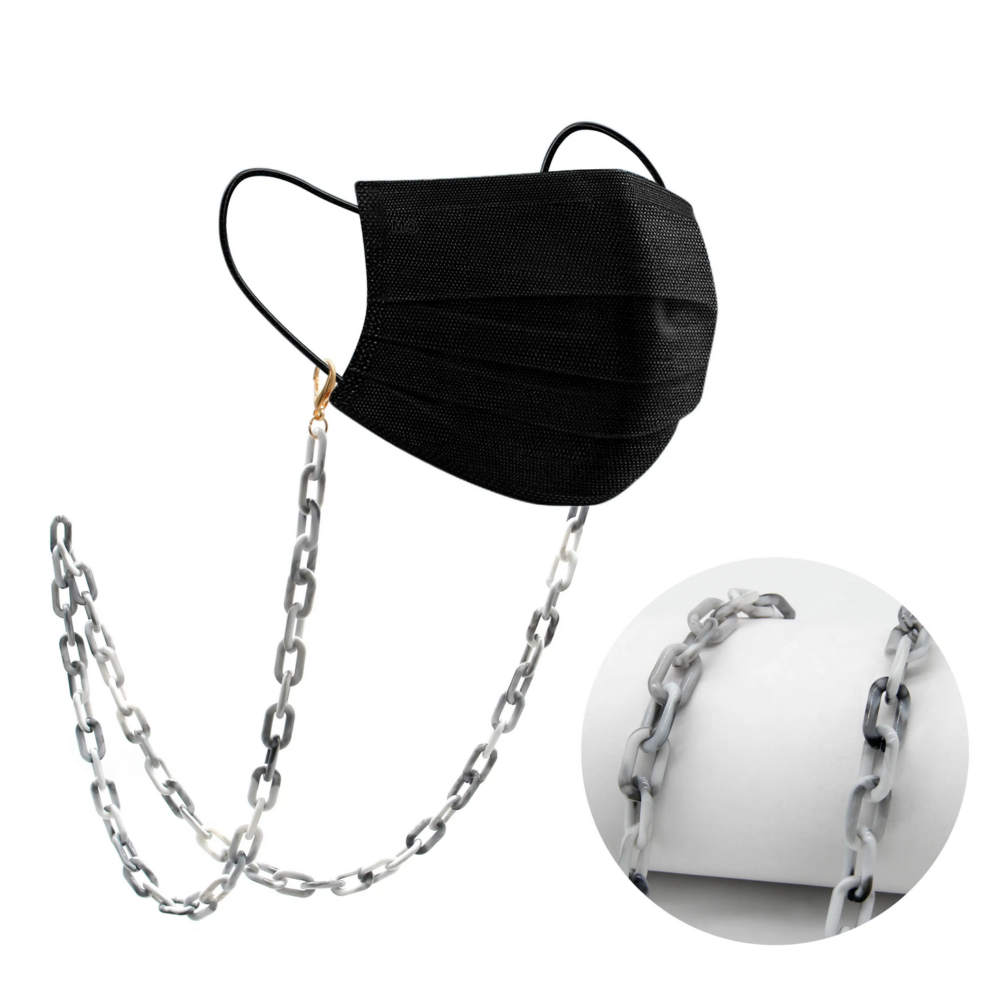 Milk + Sass Mask Chain (Small) - Marble