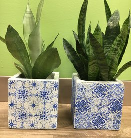 Creative Co-Op Blue Earth Ceramic Planter Pots