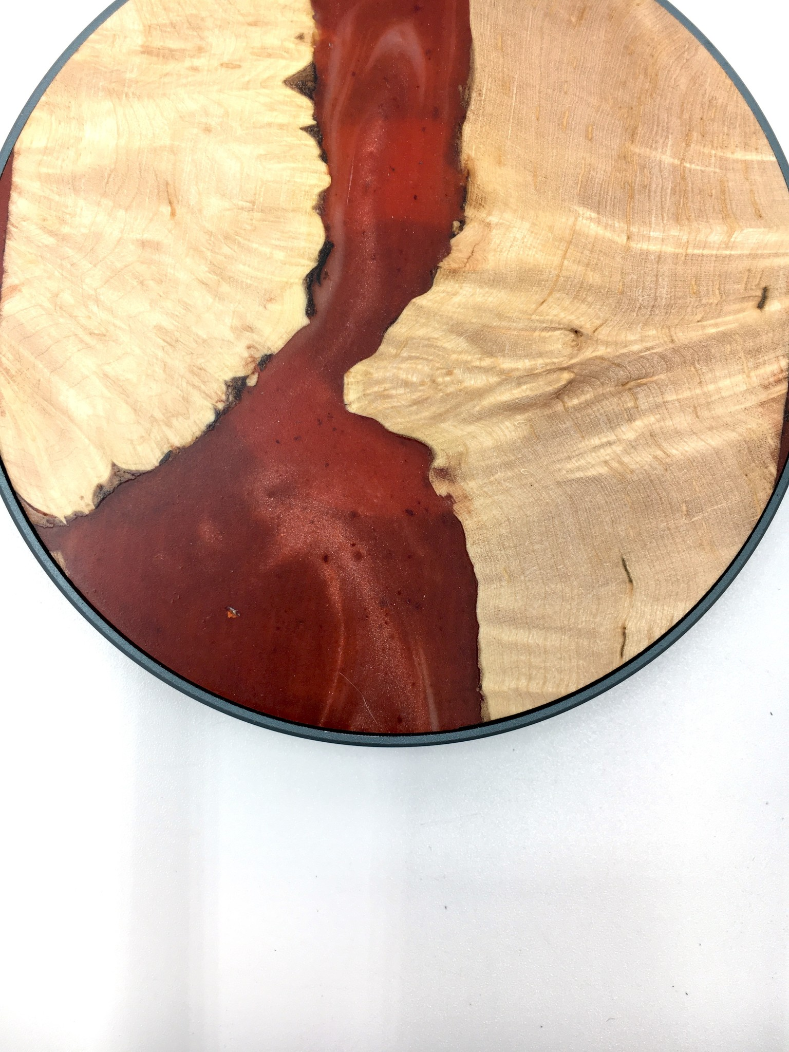 Modern Wood Cases Wood Resin Qi Wireless Charger