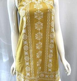 THML Embroidered V-Neck Dress