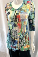 Shana Crinkle One Pocket Top - Multiple Colors