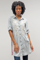 Kyla Seo Scout Shirt Dress - Heather