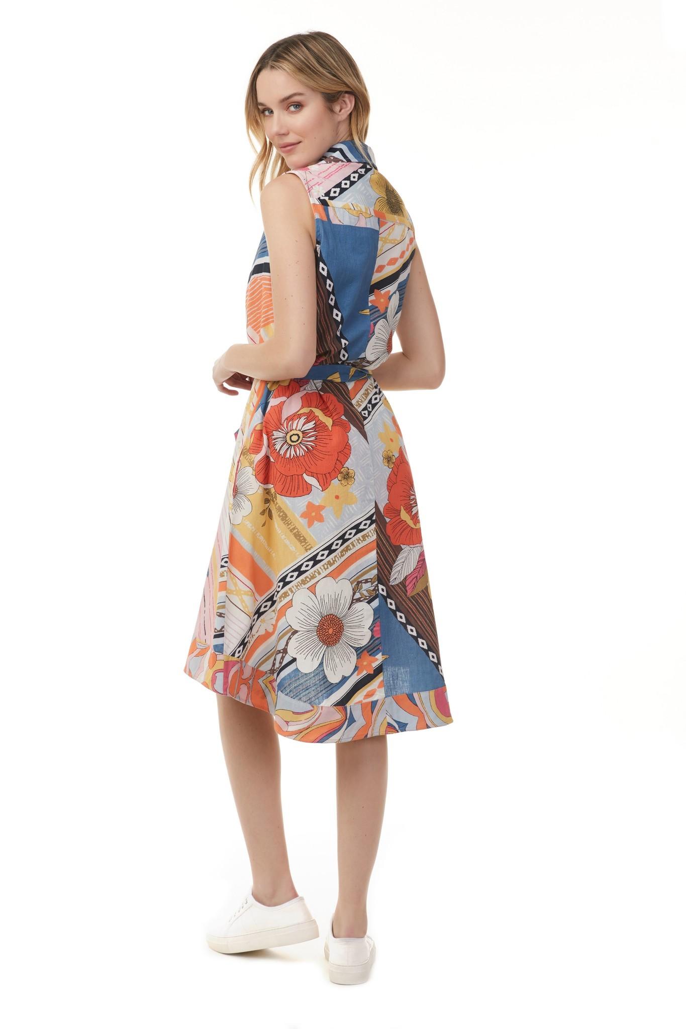 Charlie B Charlie B Printed Cotton Tank Dress