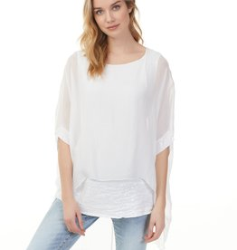 Charlie B Charlie B Silk Top - White