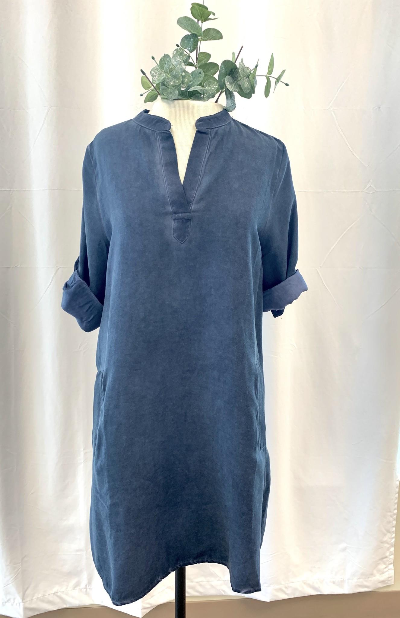 Isle Tab Sleeve Shirt Dress