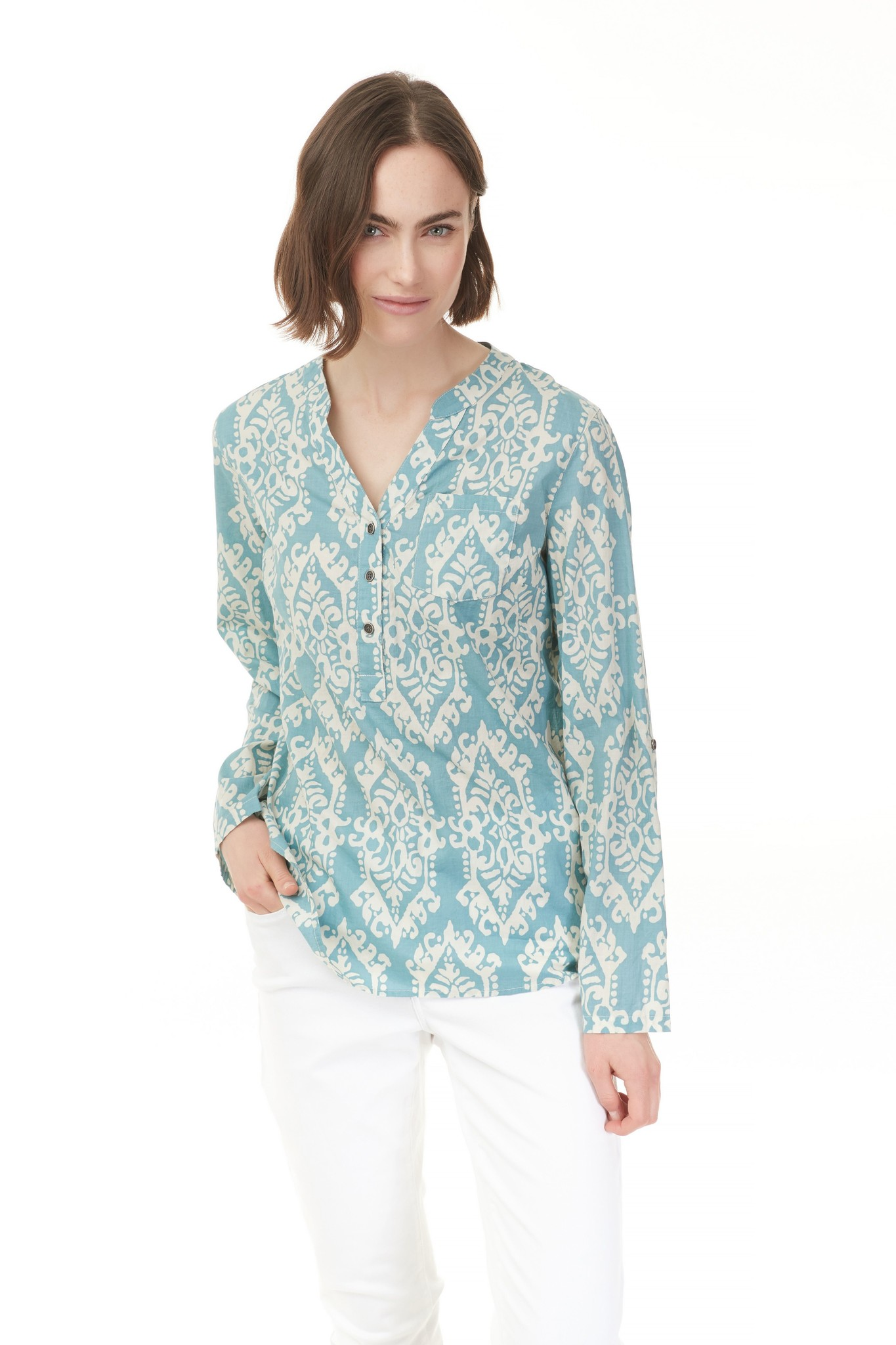Charlie B Charlie B Cotton Voile Blouse - Seagreen