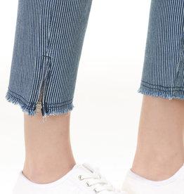 Charlie B Charlie B Stripe Ankle Denim - Indigo/White