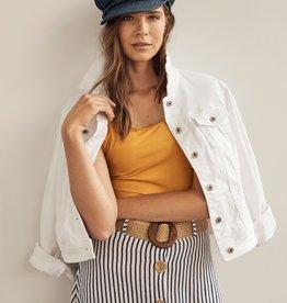 Charlie B Charlie B Linen Skirt with Belt - Nautical