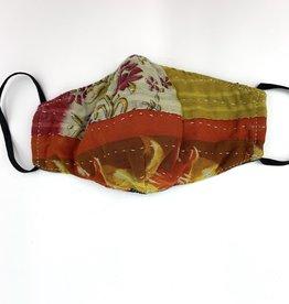 Baizaar Kantha Face Mask - Crimson & Clover