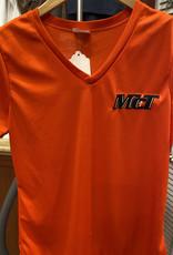 zoghby Ladies Dri Fit V-Neck - Orange