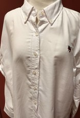 Ladies White Dress Shirt w/Yellow Jacket