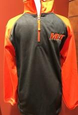 Grey & Orange Half Zip