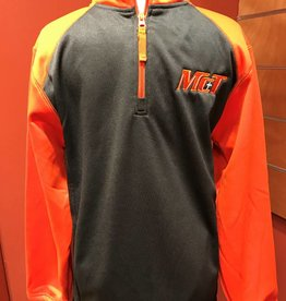 Grey & Orange Half Zip