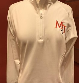 McT Ladies Half Zip White