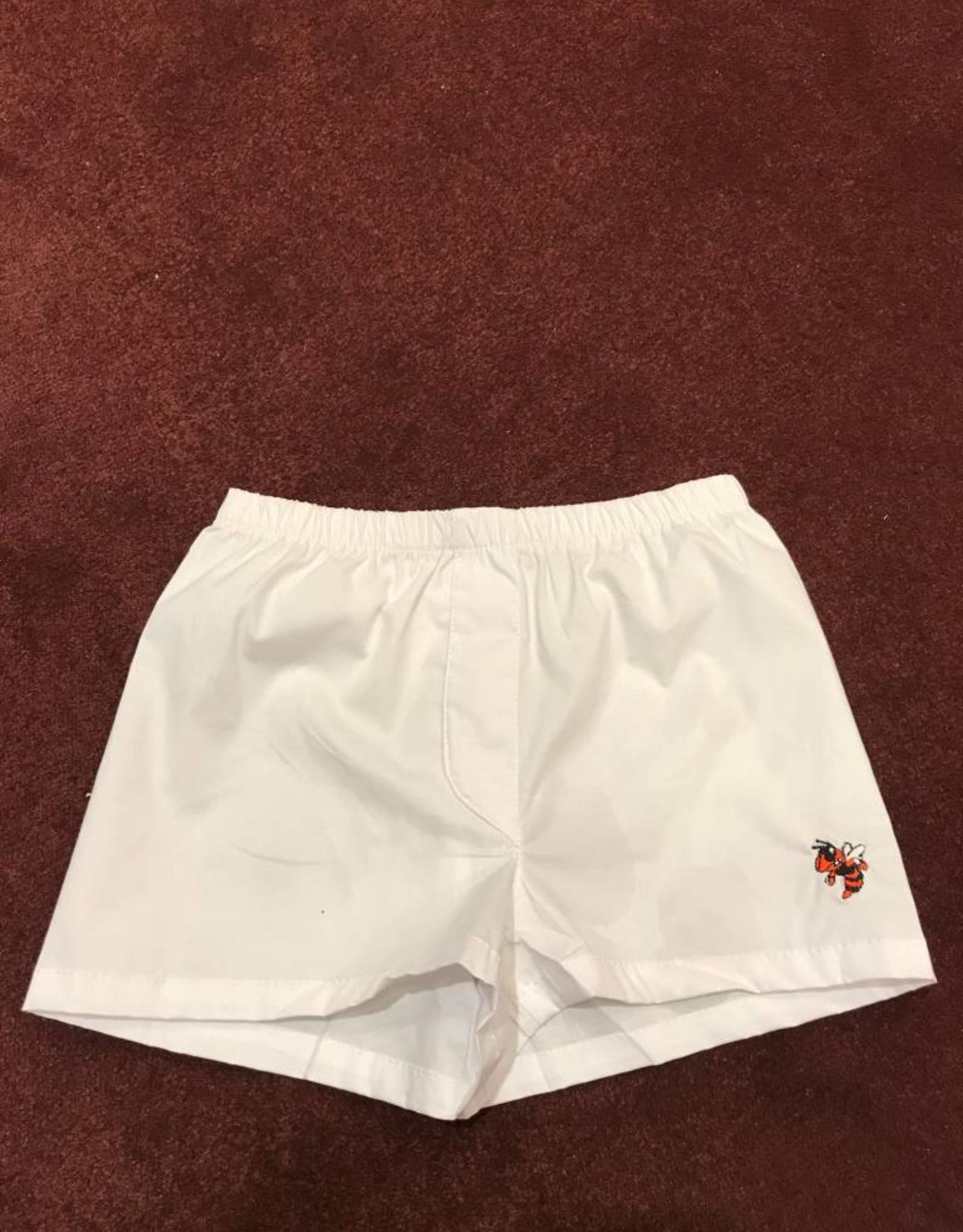 Kids Boxer Shorts White w/ Logo 6-12 Month