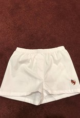 Kids Boxer Shorts White w/ Logo 0-6 Month