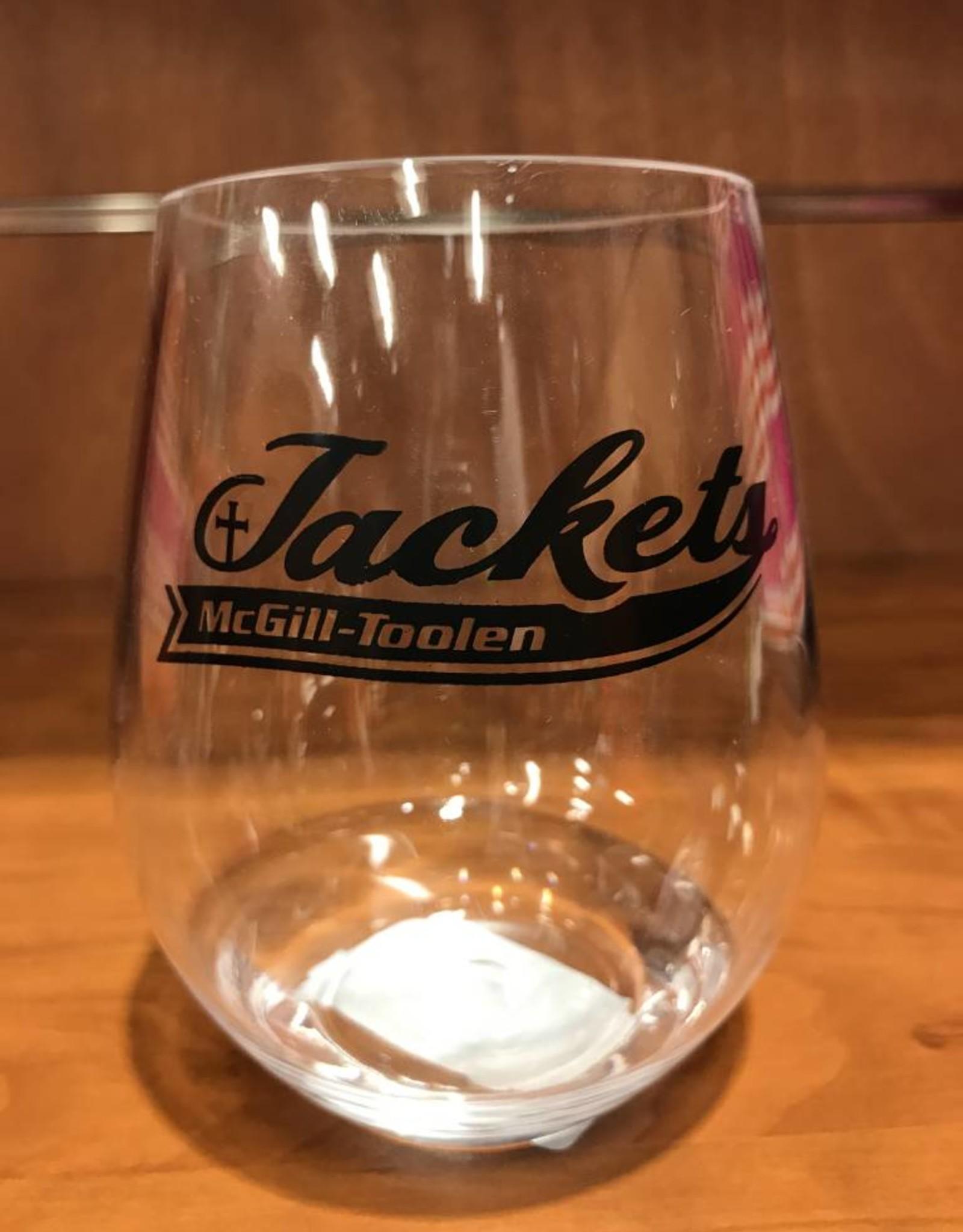 Jackets Stemless Wine Glass