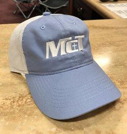 Trucker Hat w/White Logo Blue