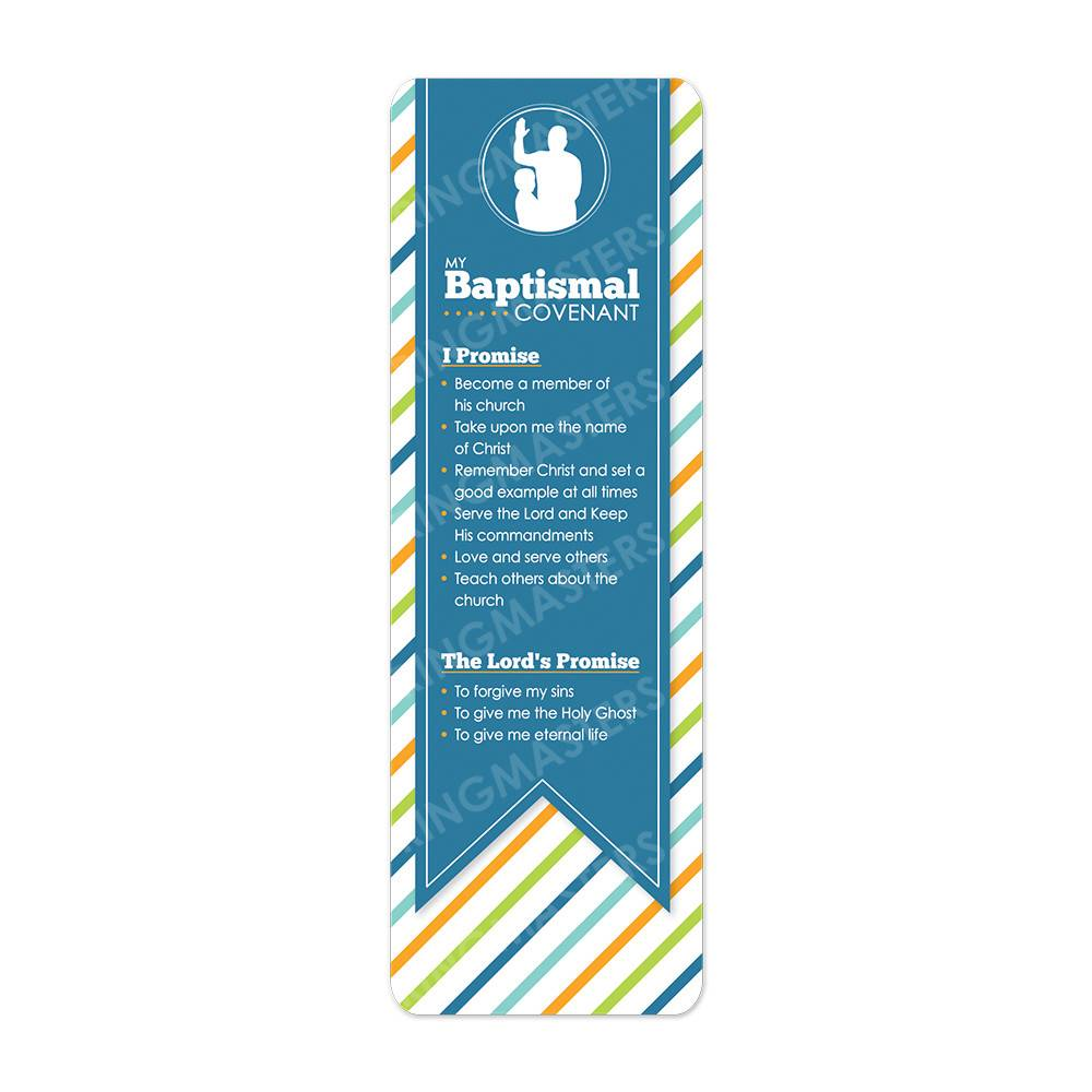BAPTISMAL COVENANT BOOKMARK BOY