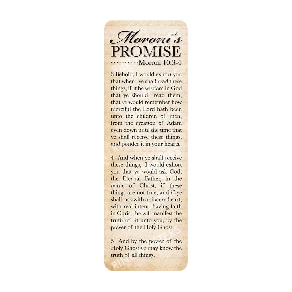 BOOKMARK MORONI PROMISE