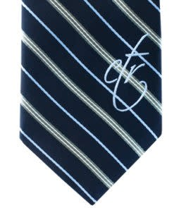 DISC CTR BOYS TIE NAVY / GRAY