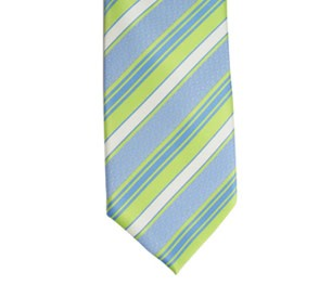DISC CTR BOYS GREEN STRIPE TIE