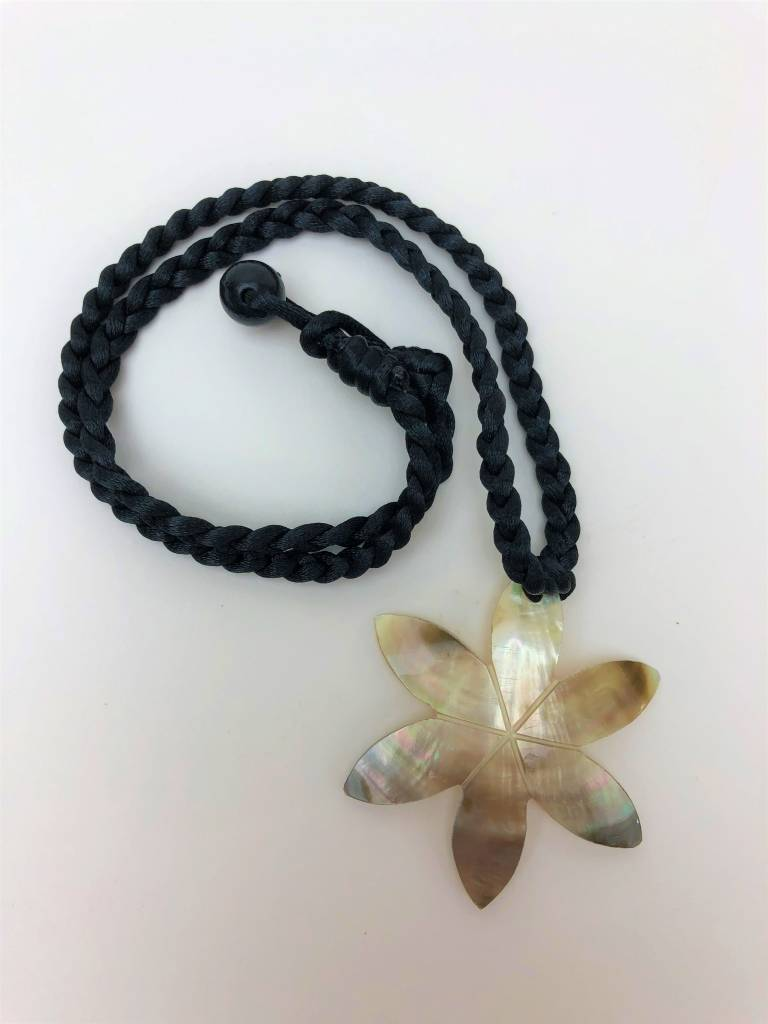 MOP Shell Necklace (tiare flower)