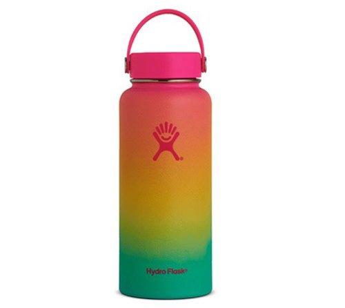 DISC Hydro Flask 32 oz Wide Mouth Flex Cap Flamingo-Lemon-Mint