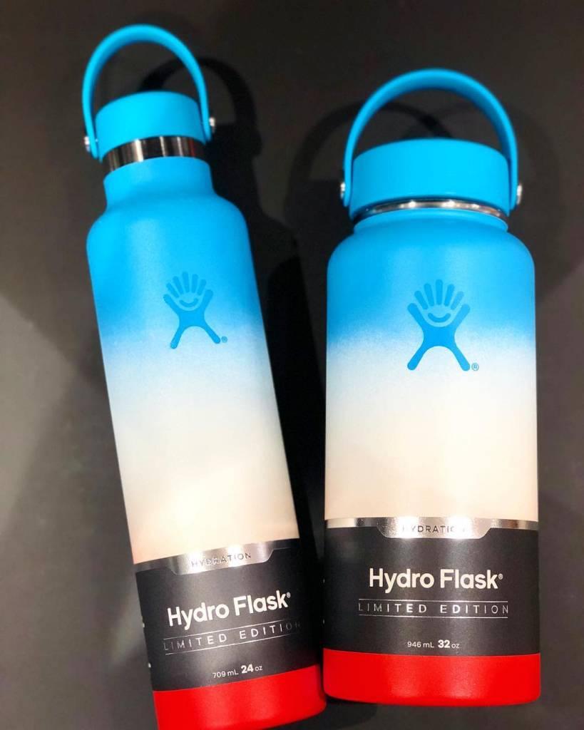 Hydro Flask 32 oz Wide Mouth Flex Cap Ocean-White-Guava