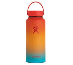 DISC Hydro Flask 32 oz Wide Mouth Flex Cap Keiki Rainbow