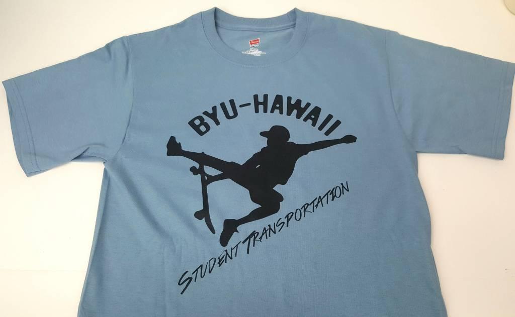 BYUH Student Transportation Skateboarder