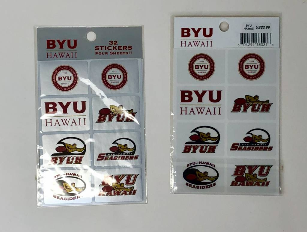 BYUH LOGO STICKERS 4PK