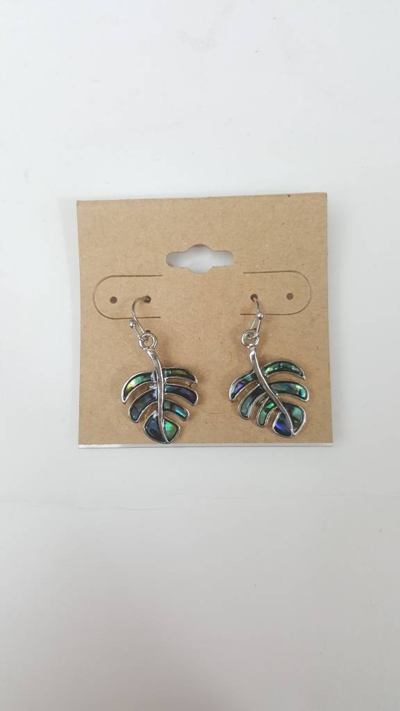 ABALONE MONSTERA EARRING